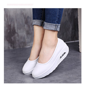 Image 5 - STS Brand Spring Mother Casual Women Thick Flats Shoes Casual Comfort Low Heels Flat Loafers Nurse Shoes Slip Resistant Platform