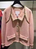 Женская элегантная офисная куртка, большие размеры, твидовое элегантное пальто, мода casaco, женские chaquetas mujer, милые casaco inverno, на заказ XS 6XL