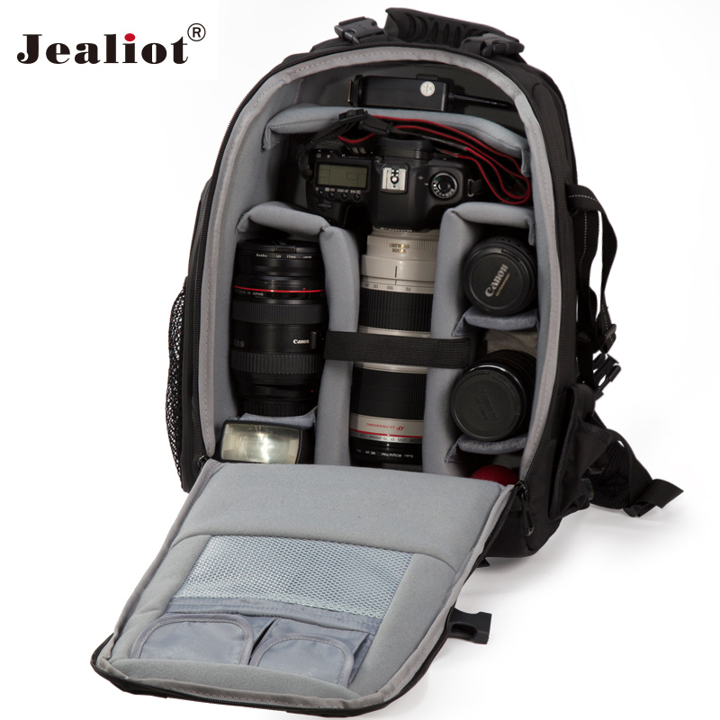 2017 Jealiot Professional Camera Bag laptop Backpack digital camera Multifunctional waterproof Video Photo case for DSLR Canon altamont salman shirt jacket black