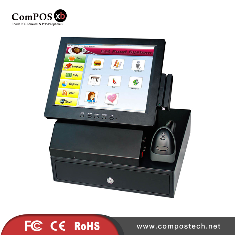 12'' cash register touch pos machine 2GB memory with cash drawer apply for drugstore c 50 electronic cash registers cash register pos cash register 8v multifunctional catering cash register for supermarket milktea