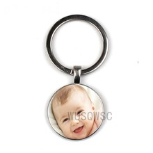 Handmade Personality Photo Family Photo Baby Boy Dad Mom Brother Sister Grandparents Family Portrait Private Custom Keychain(China)