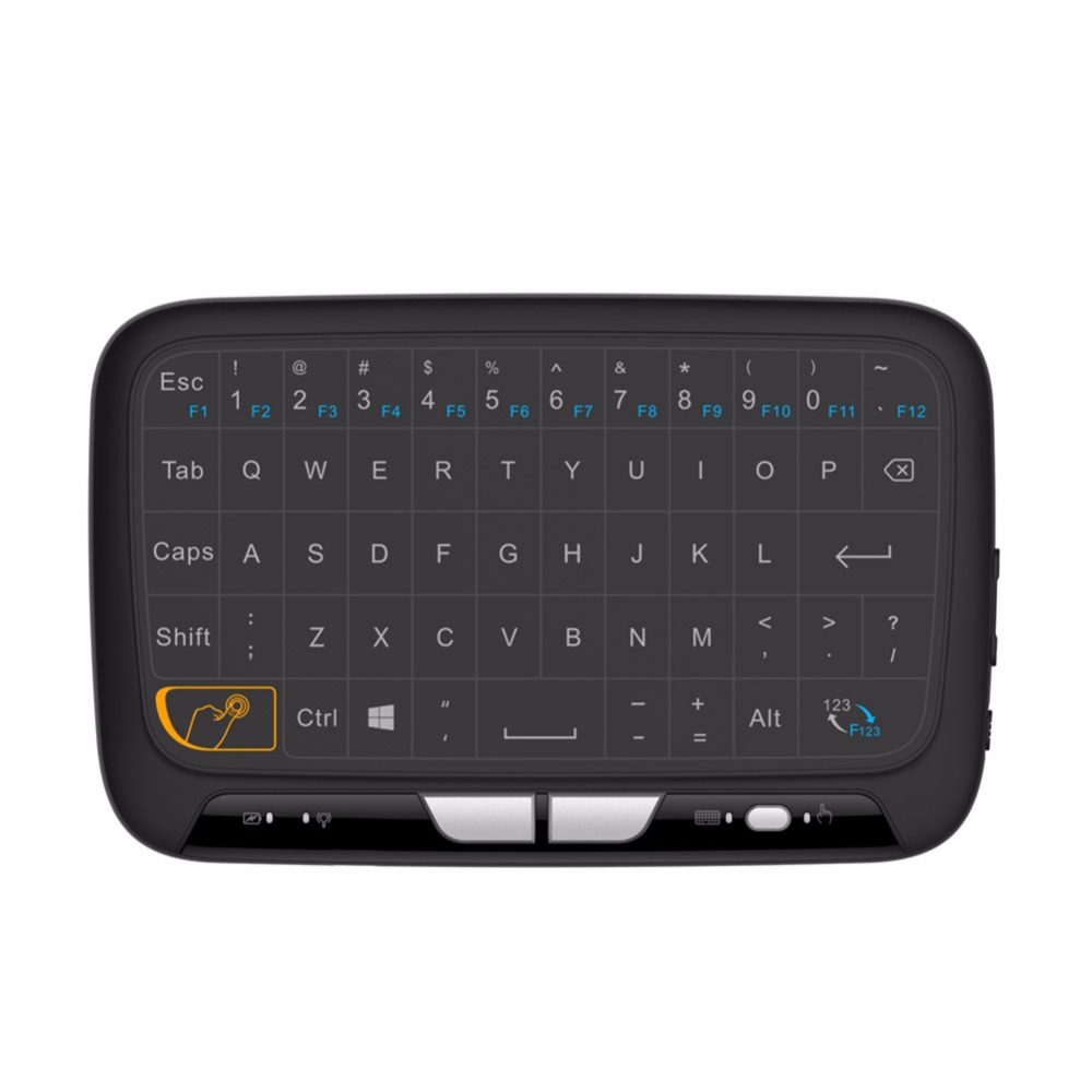 H18 Mini Wireless Keyboard  Full-screen Backlight Touchpad Air Mouse IR Leaning Remote Control For Andorid BOX Smart TV Windows