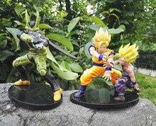 Anime Dragon Ball Cell Son Goku Son Gohan Battle ver. PVC Action Figure Christmas Gift Brinquedos Collectible Toy