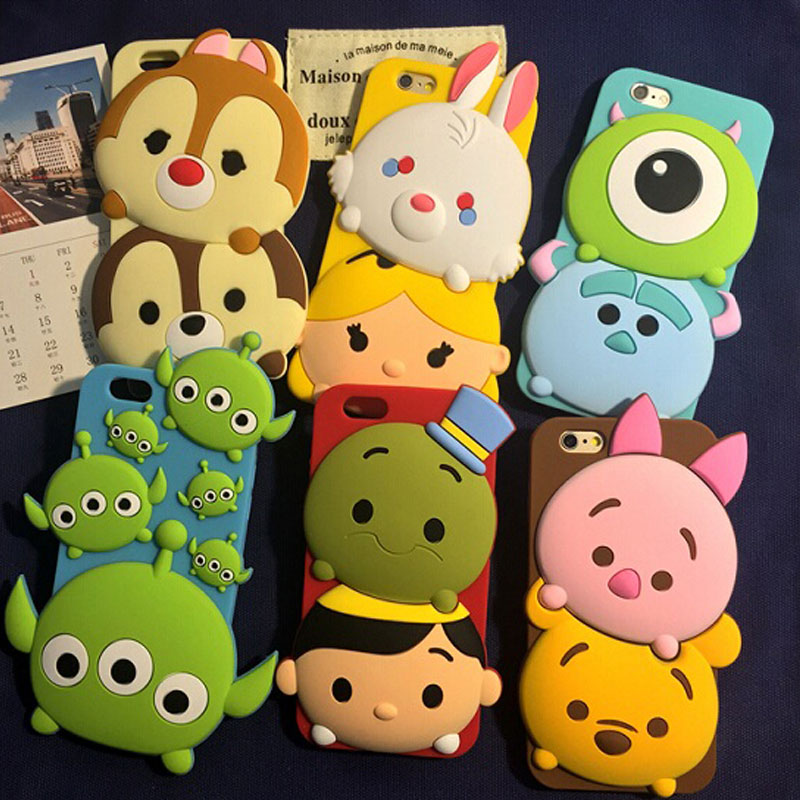 Fashion Cartoon Cheap Cell Phone Cases For iphone6 6S Plus Case Luxury Anti-Shock Soft Silicone Cover For iphone 7 7 plus Coque