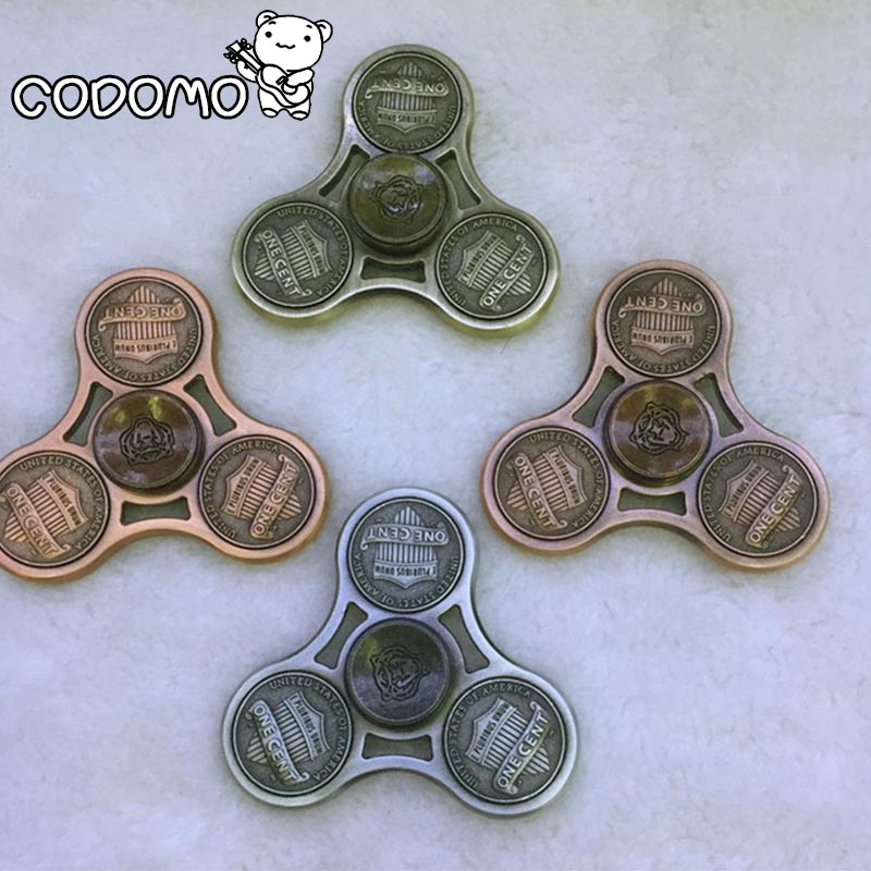 Hand Spinner Zinc Alloy Triangle Fidget Finger Spinner Classic Hand Toy Autism Anti Stress New Style