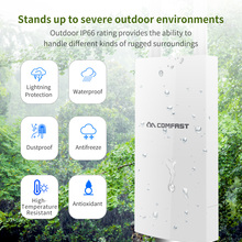 2Pcs~ 300M 2.4G Outdoor Wireless WiFi Repeater Signal Amplifier WIFI Extender With 360-Degree Omnidirectional Antennas Wide-Area