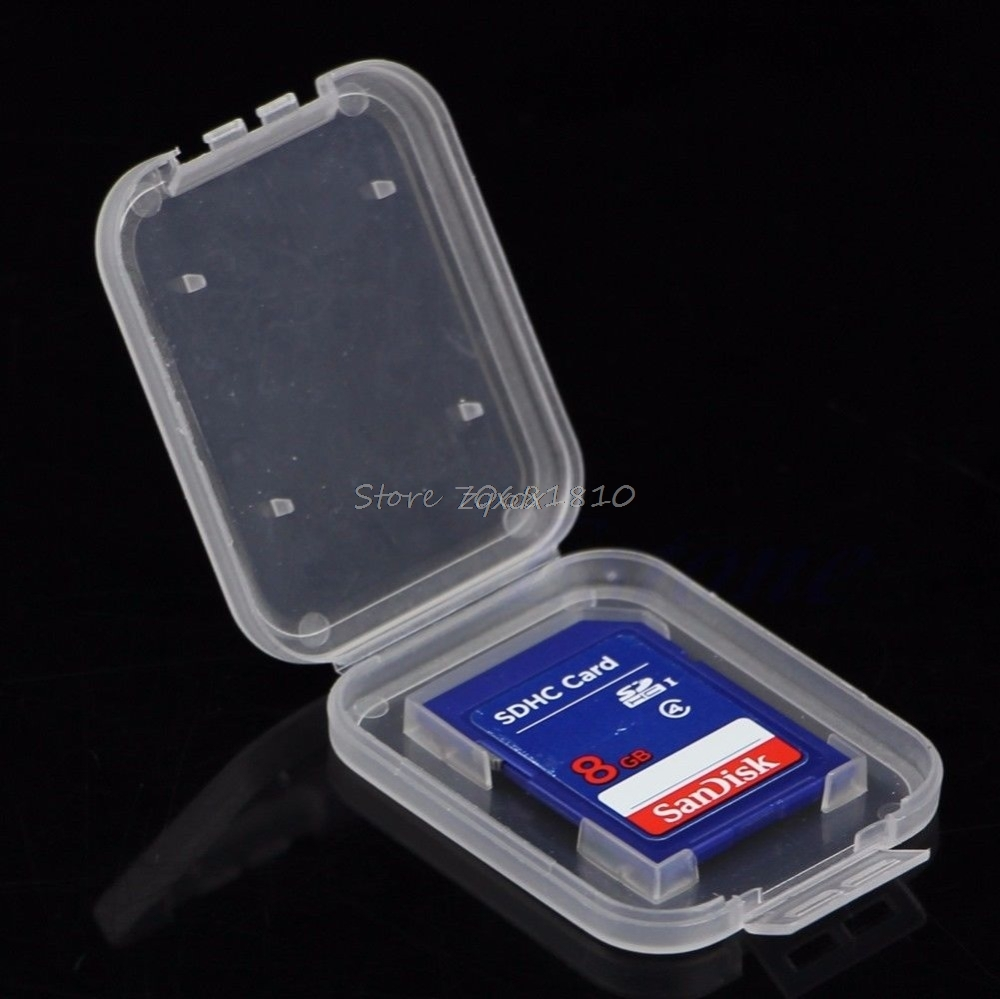 10Pcs SD SDHC Memory Card Case Holder Protector Transparent Plastic Box Storage Whosale&Dropship