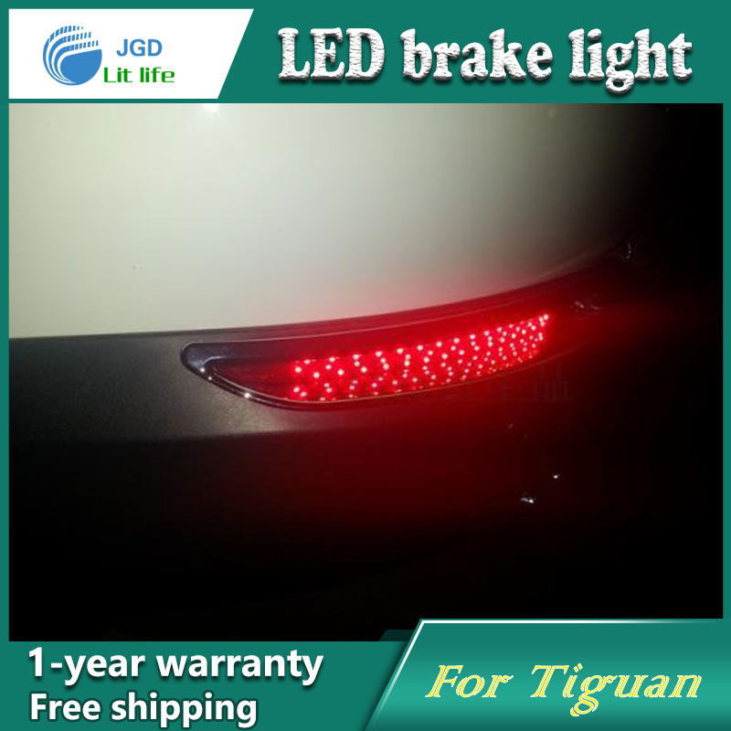 Car Styling Rear Bumper LED Brake Lights Warning Lights case For VW Tiguan 2010-2012 Accessories Good Quality купить