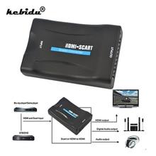 Адаптер kebidu 1080P HDMI-совместимый с адаптером Scart micro USB для адаптера SCART К HDMI-совместимый видеоконвертер для смартфона к CRT TV DVD
