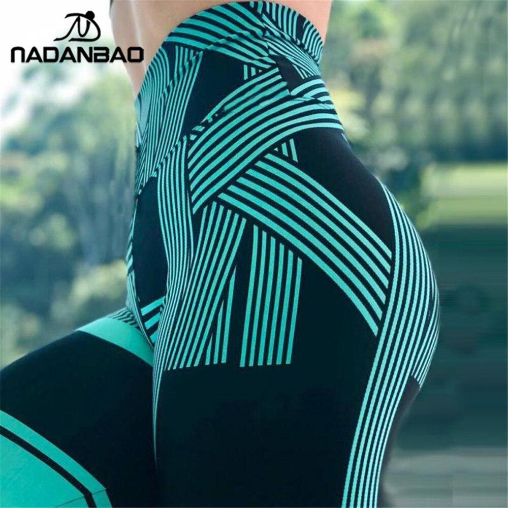 NADANBAO Push up Leggings Women High Waist Fitness Legging Sexy Stripe Workout legins woman clothes 2019