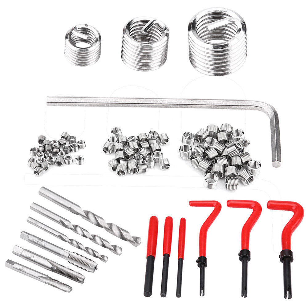 30Pcs Helicoil Thread Repair Kit M4 M5 M6 M8 M10 M12 M14 Thread Repair Insert Set Stainless Steel Thread RepairInsert M12