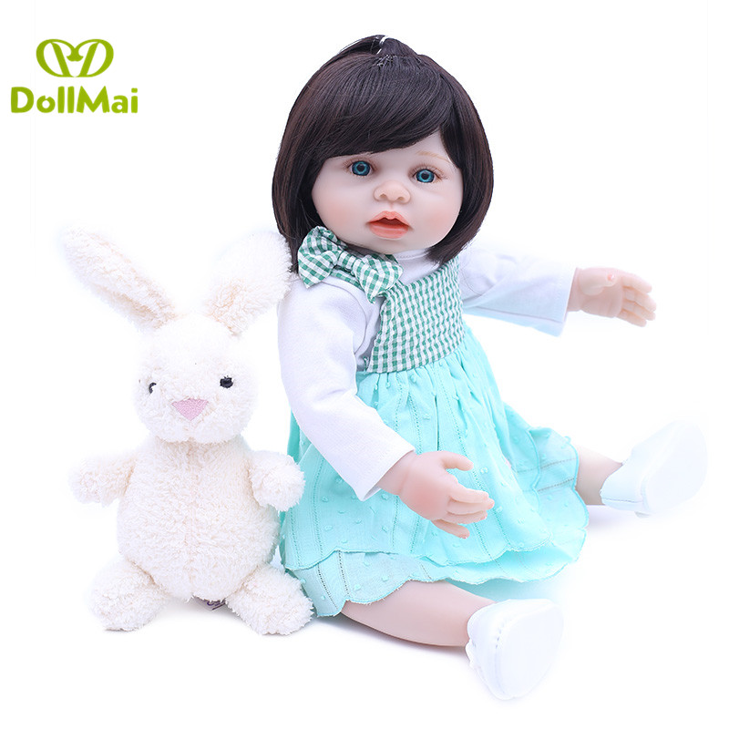 Real 45CM Full Body SIlicone Girl Reborn Babies Doll Bath Toy Lifelike Newborn Princess Baby Doll Bonecas Bebes Reborn MeninaReal 45CM Full Body SIlicone Girl Reborn Babies Doll Bath Toy Lifelike Newborn Princess Baby Doll Bonecas Bebes Reborn Menina