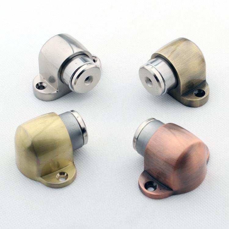 2 Colors Door Hardware Steel Stainless Magnetic Door Stopper(Brass Self  Color And Satin Nickel)