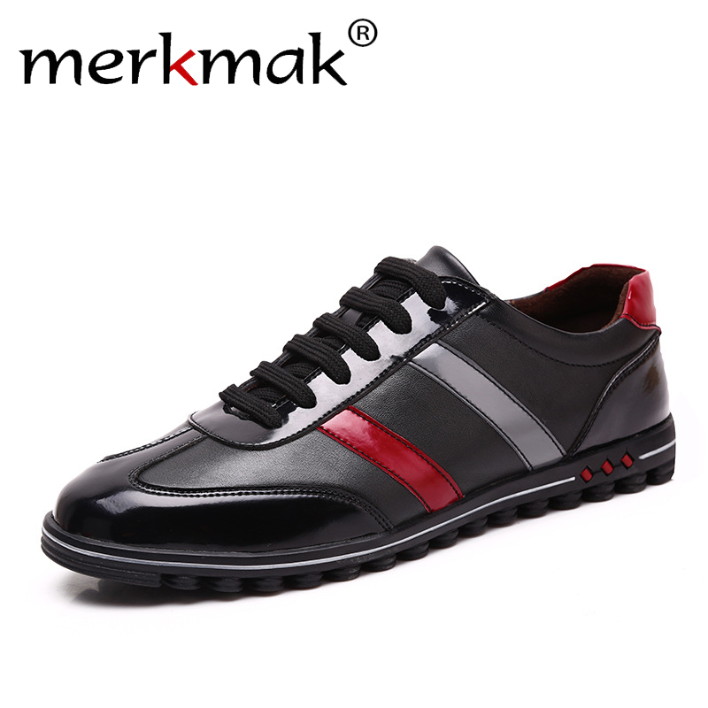 Merkmak Big Size 37-46 Men Shoes Casual Fashion Men's Genuine Leather Moccasins Male Luxury Brand Designer Italian Mens Shoes new 2017 summer brand casual men shoes mens flats luxury genuine leather shoes man breathing holes oxford big size leisure shoes