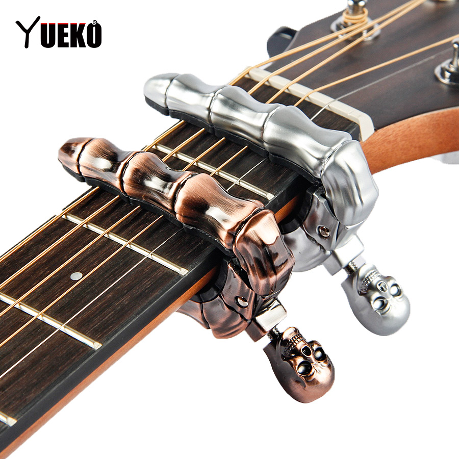 yueko skull guitar capo for bass electric acoustic guitar accessories parts guitarra in guitar. Black Bedroom Furniture Sets. Home Design Ideas