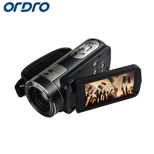 """Ordro HDV-Z80 HD 1080P 30fps 10X 24MP Reflex Digital Cameras 3.0"""" Touch Screen CMOS Video Recorder Cam Professional Camcorders"""
