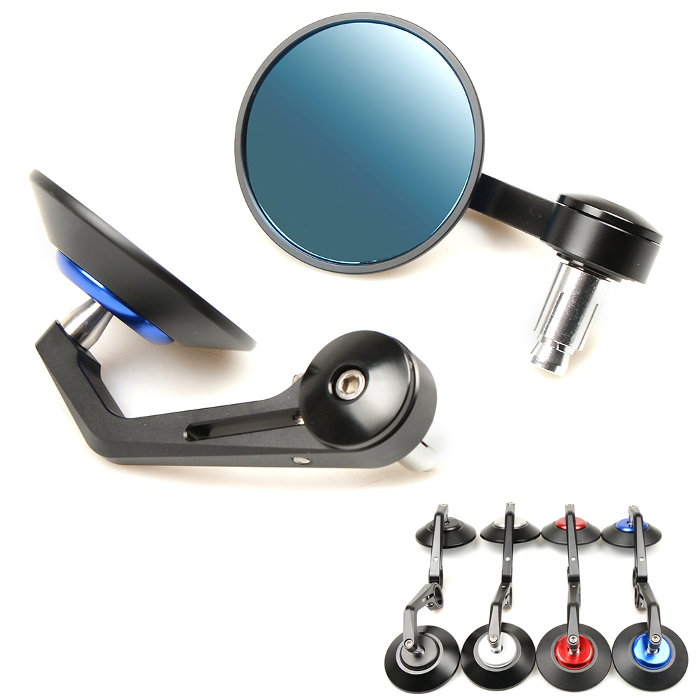 7/8 Accessories Motorcycle Rearview Mirror Round Handle Bar End Mirror Rear Side Mirror Chrome Bicycle Moto Parts Cafe Racer