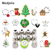 Medjelio Christmas Series Cookie Cutter Biscuit Mold Santa Claus Pastry Nozzle Piping Tips Cooking Baking Cake