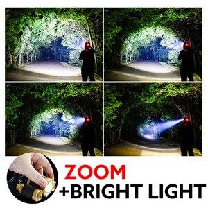 Image 5 - ZOOM LED Scheinwerfer Fischerei Scheinwerfer 3 * XML T6 USB Aufladbare Sensor Lampe Wasserdichte Kopf Taschenlampe Kopf Lampe durch 18650