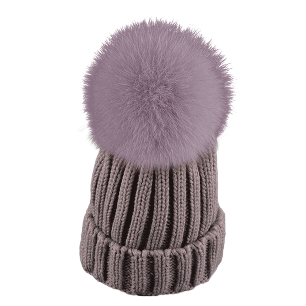 Fashion Winter Women Hats Beanie Warm Crochet Knit Thick Hat Autumn Fox Fur Pompons Bonnet Mink Pom Poms Female Ladies Girl F2 foreign trade explosion models in europe and america in winter knit hat fashion warm mink mink hat lady ear cap dhy 36