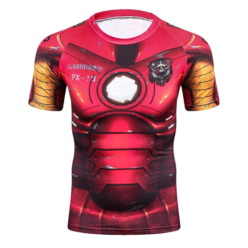 3D Summer T Shirt Men New Superhero Ironman Short Sleeve Men Tshirt Quick Dry Fitness Clothing Compression T-Shirt Men Tops&Tees