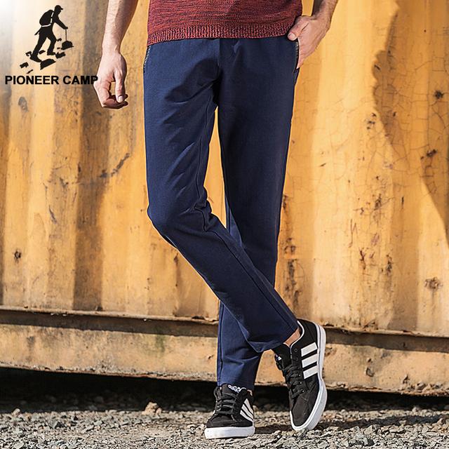 Pioneer camp nova moda dos homens calças de alta qualidade calças moda casual moletom azul escuro roupas de marca 522176