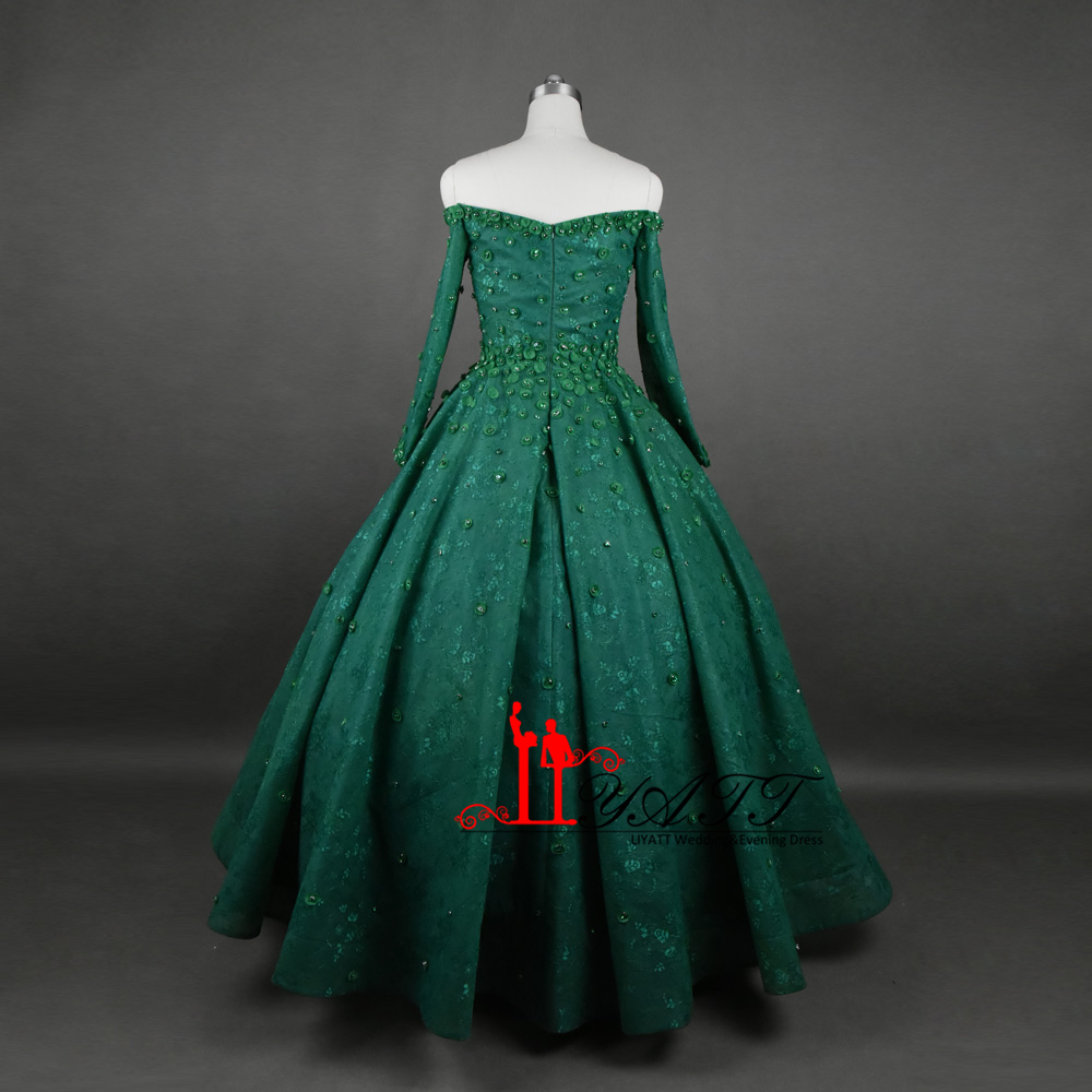 Green dark ball gowns exclusive photo