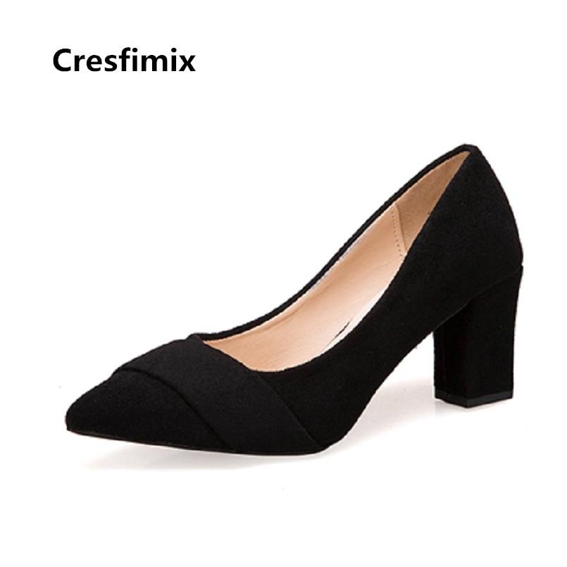 b Cuadrados Tacón Zapatos Negro Femmes Moda d Cresfimix Hauts Dama Bombas A Alta c Las A3417 Alto Talons Calidad Casual Mujeres De HPzqwBP4