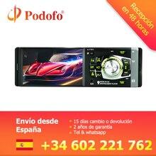 Podofo 4012B 1 Din Car Radio 4.1 pollice HD Auto Lettore MP3 Audio Stereo Radio 12 v Bluetooth di Sostegno A Distanza controllo Videocamera vista posteriore