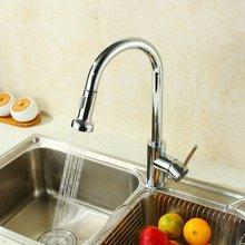 Смесители Torneiras Chrome Продажа Torneira 2015 Кухонный Кран Вытащить Меди Горячей И Холодной Овощи Бассейна Раковина Вращения