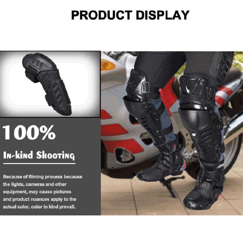 Moto protecteur genou coude dur course armure garde réglable bande élastique - 6