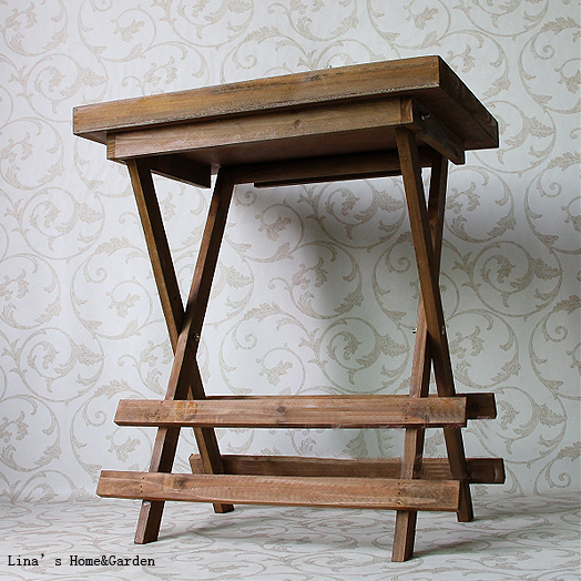 Screen Printing Aged Old Vintage Brown Solid Wood Folding Tray Table In  Coffee Tables From Furniture On Aliexpress.com | Alibaba Group