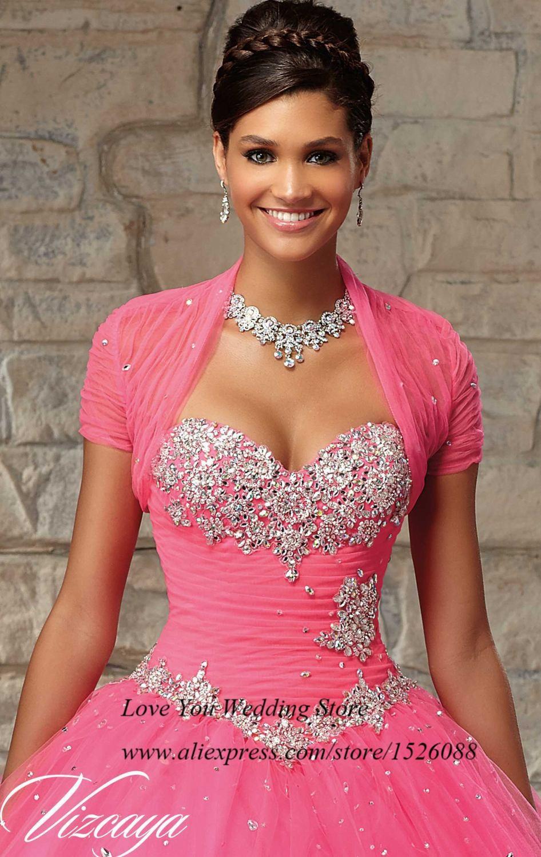 c04f6374c Vestidos de Quinceaneras 2015 Masquerade Ball Gowns Vestidos de 15 Anos  Princess Pink Sky Blue Crystal Quinceanera Dresses