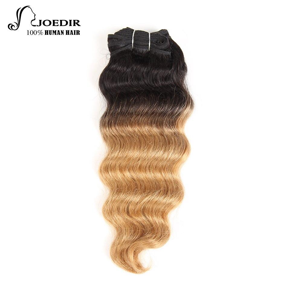 Joedir Brésilienne Cheveux Vague Bundles 100% Remy de Cheveux Humains Bundles 1 pièce Ombre Vague Profonde Bundles Aucun Rejet Livraison Gratuite