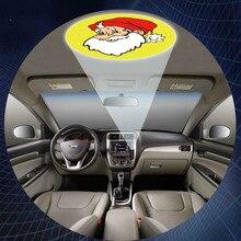 USB Автомобильное Авто-прикуриватели крыши логотип лазерный проектор тень призрак Светодиодные лампы Свет для Skoda Volvo Fiat Cadillac Renault Saab