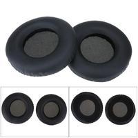 1 זוג עור + קצף החלפת אוזן כרית אוזן כרית לakg K550 K551 K553 אוזניות 20mm עובי שחור אוזן זוג
