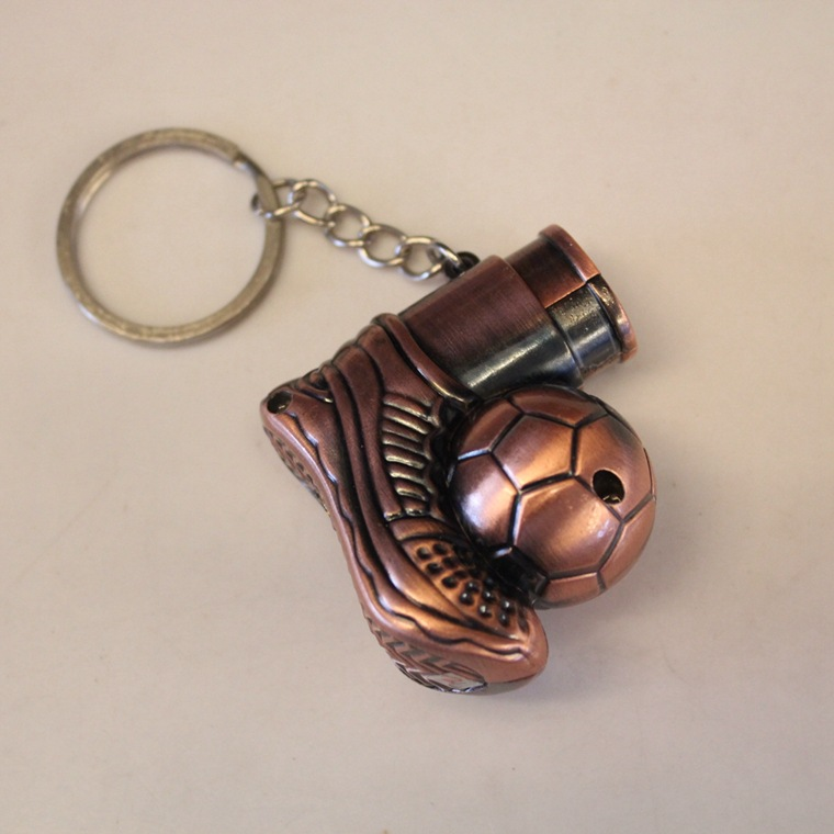 New 1pcs football shoes Keychain Cigarette Lighter Novelty Windproof butane gas Lighters refillable