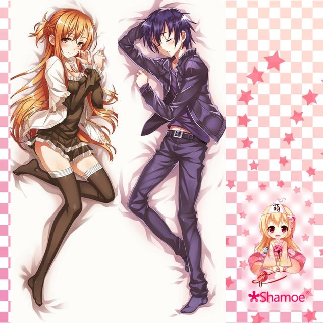 50X150 CM Schwert Art Online SAO Kirito Asuna Cartoon Japan Anime Wall Scroll Wandbild Poster Kunst