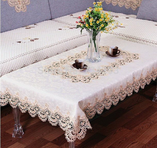 European Luxury Tablecloth Fabric Lace Tablecloth Table Runner Coffee Table  Cloth Rectangle Square Round Oval Table Cover In Tablecloths From Home U0026  Garden ...