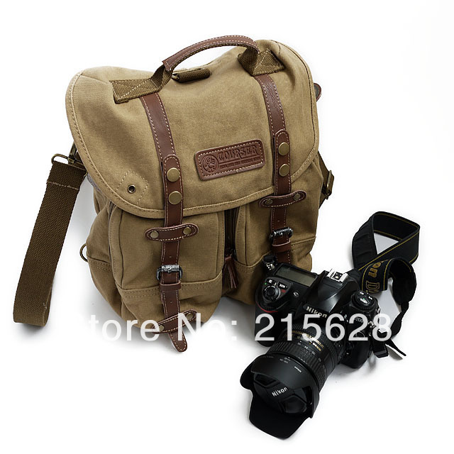 Vintage Professional waterproof canvas DSLR camera Video bag photo Shoulder SLR backpack for canon eos Nikon Pentax Fujiflim fly leaf camera bag backpack anti theft camera bag with 15 laptop capacity for dslr slr camera