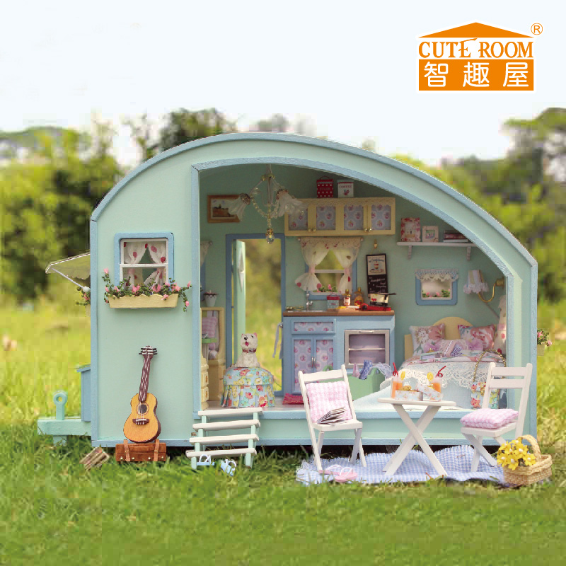 CUTE ROOM New DIY Doll House Wooden Doll Houses Miniature dollhouse Furniture Kit Toys for children Gift Time travel doll houses сумка wooden houses w287 2014
