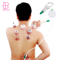 12 Cups Chinese Medical Vacuum Body Massager Magnetic Acupunture Vacuum Cupping Set Therapy Tens Sub Health