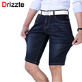 Drizzte Mens Plus Size High Stretch Lightweight Blue Denim Jeans Shorts for Men Ripped Jean Pants 30 to 36 38 40 42 44 46 48