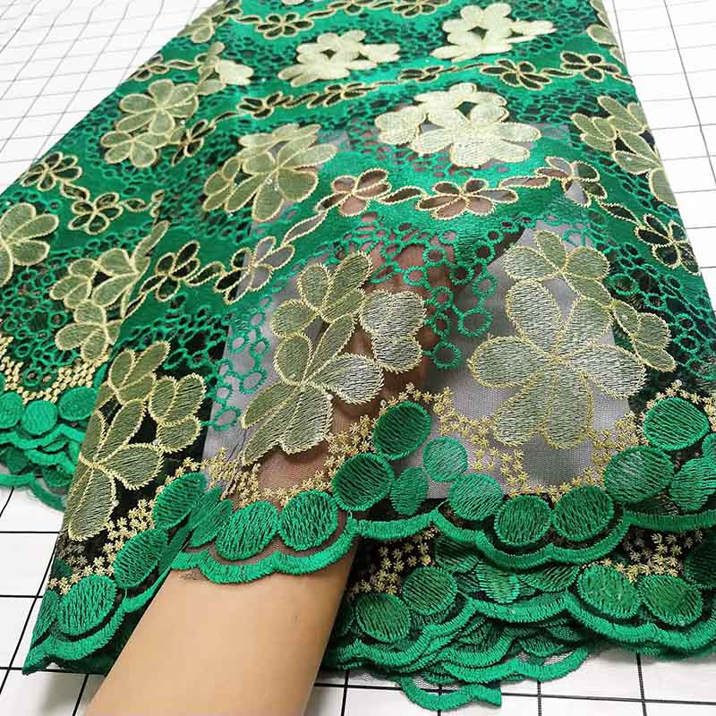 Image 3 - Aqua green African Swiss Voile Lace Fabric High Quality French Tulle Lace Fabric 2019 Nigerian Lace Guipure Embroidery Fabric-in Lace from Home & Garden