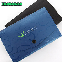 цены Business Style Black Blue A6 Expanding File Folder Document Wallet Organizer Bag 13 Layer