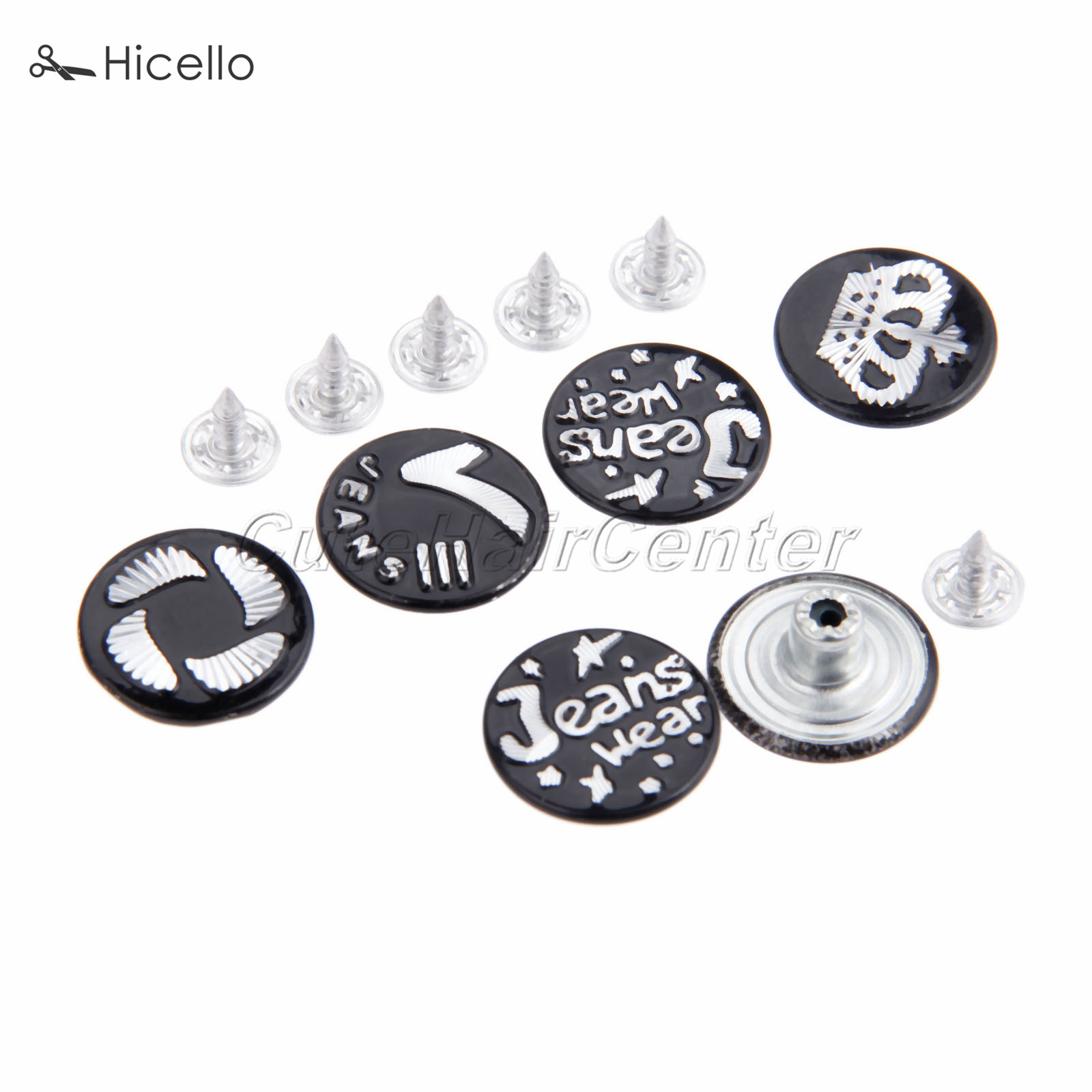 Kind-Hearted 50sets Jeans Buttons With Nails Metal 20mm Black Mixed Patterns For Pants Shoes Boots Handbags Leather Craft Hicello Apparel Sewing & Fabric