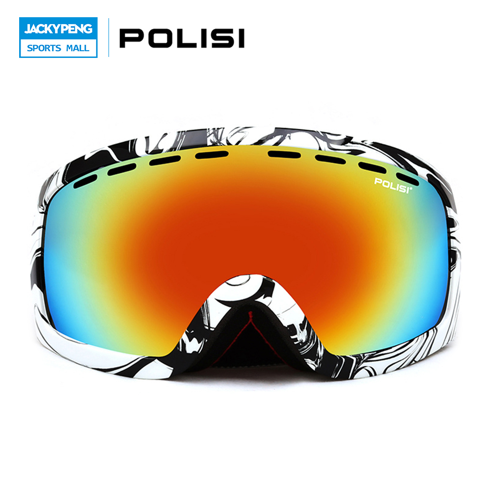 POLISI Unisex Polarized Ski Goggles Snowboard Snowboarding Glasses Snowmobile Gafas Motocross Outdoor Winter Skiing Eyewear dc dc buck boost module for solar battery board red lm2577s lm2596s