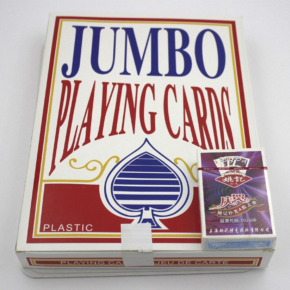 Jumbo Карточные Игры покер, очень большой Размеры Карточные игры, 4 Размеры Карточные игры развлечения для удовольствия.