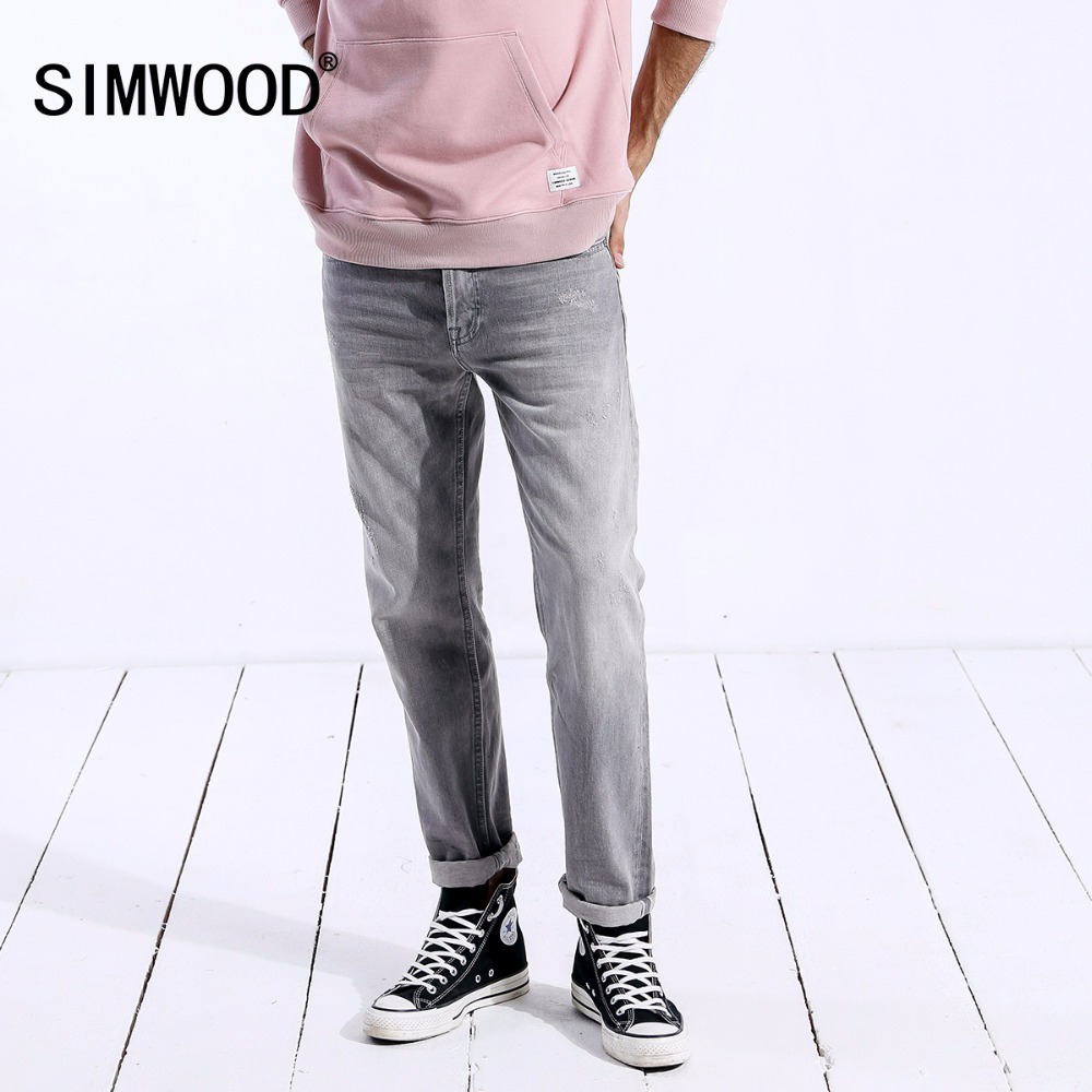 SIMWOOD New Arrive Brand Jeans Men 2019 Casual Slim Fit Ripped Jeans Skinny Fashion Denim Trousers Male High Quality 180240