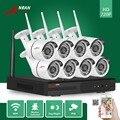 ANRAN 24IR Día Noche P2P 8CH Red NVR WIFI Impermeable 720 P IP Inalámbrica Cámaras de Seguridad del Hogar Sistema de Video Vigilancia